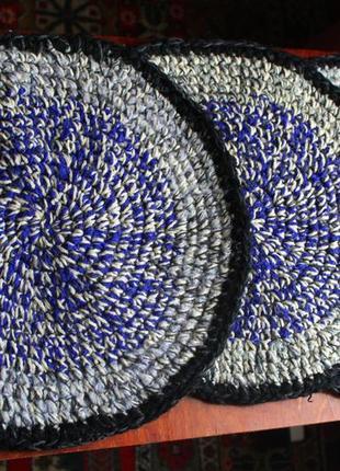 Килим, коврик вязанный, коврик на табуретку, коврик вязаний