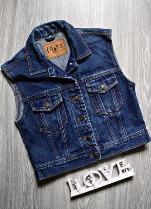 Стильная джинсовая жилетка р. 46