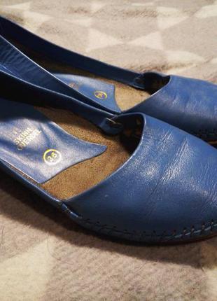 Уютные легкие синие туфли