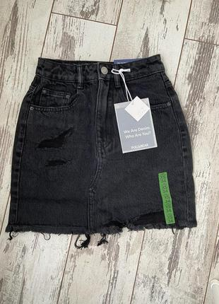 Джинсовая мини-юбка pull&bear