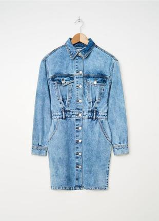Платье рубашка джинсовое house