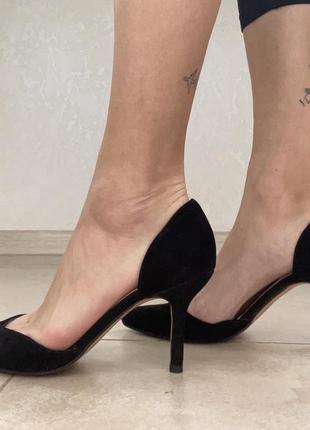 Чёрные туфли кожа