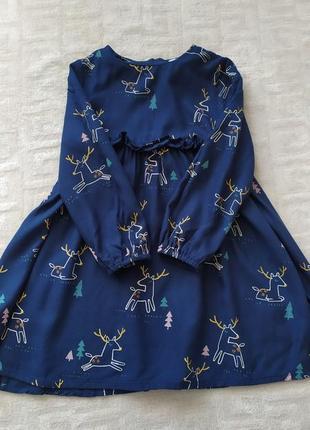 Шикарное платье m&s на 3-4 года.3 фото