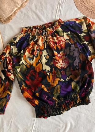 Шикарная блузка с цветным принтом desigual (размер 12-16)