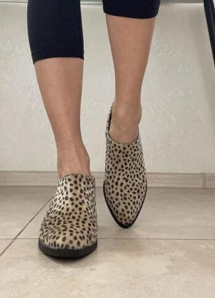 Леопардовые ботинки лоферы