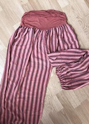 Натуральные легкие брюки гаремки 52-54р2 фото