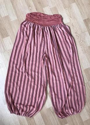 Натуральные легкие брюки гаремки 52-54р3 фото