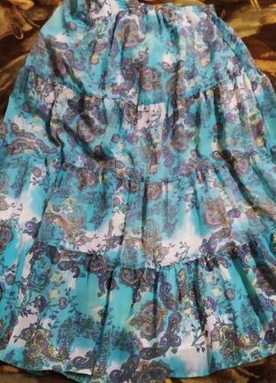 Пышная юбка с рисунком