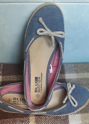 Легкие джинсовые туфельки blue motion