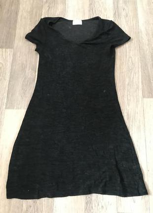 Чёрное платье футболка размер s-m
