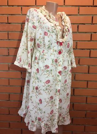 Пеньюар и ночная сорочка ( комплект) , пижама slenderella 46-48  р.