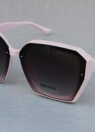 Miu miu очки женские солнцезащитные большие розово пудровые с градиентом