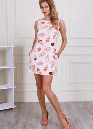 Платье с мороженым /эскимо с карманами