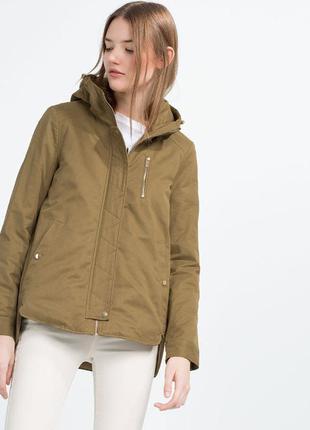 Парка, куртка демисезонная zara xs-s и m