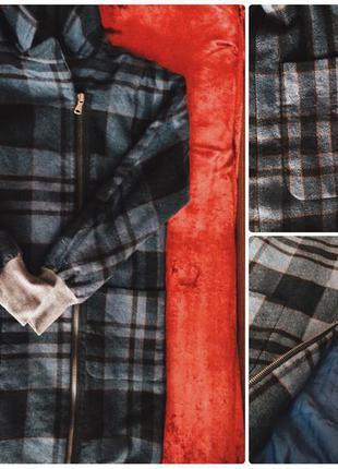 Пальто в клетку tommy hilfiger с подкладкой утеплителем