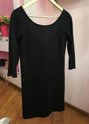 Черное прямое платье stradivarius