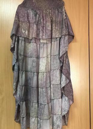 Ассиметричная юбка с воланом2 фото