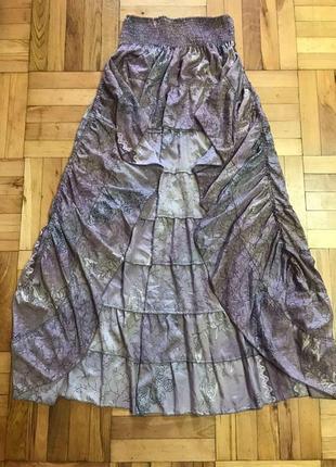 Ассиметричная юбка с воланом4 фото