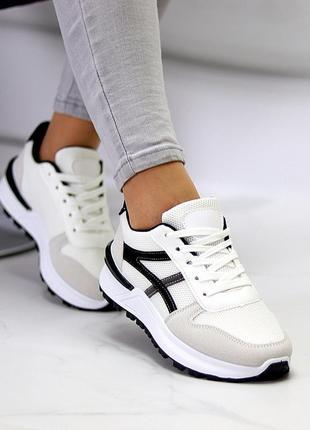 Женские серо-белые кроссовки 🔸жіночі кросівки