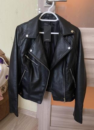 Байкерская куртка эко кожа косуха кожанка шкірянка reserved