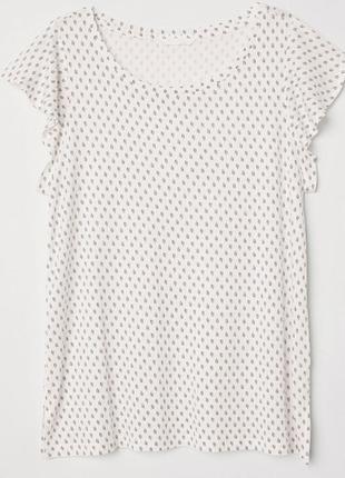 H&m мягкая футболка из вискозы большого размера 1+1=3