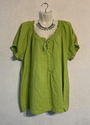 Зеленая блуза рубашка кофта топ майка