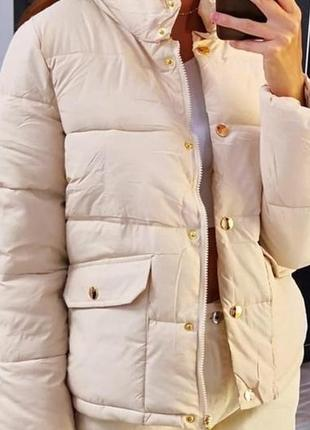 Куртка бежевая 38-40р. {s-m} gina benotti