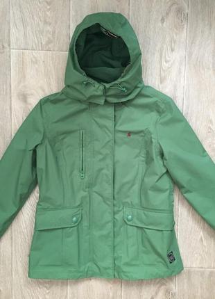 Новая куртка от joules непродуваемая не намокает uk12 m красивейший зеленый оттенок