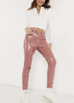 Лакированые штаны брюки river island виниловые лосины