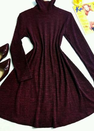 Красивое платье цвета марсела в рубчик 12размер