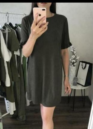 Платье под замш цвета хаки 🖤🖤🖤 сукня замш