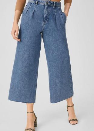 Женские стильные джинсы the wide leg c&a, размер м, 100% хлопок