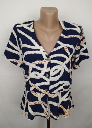 Блуза оригинальная в принт версаче с баской uk 12/40/m