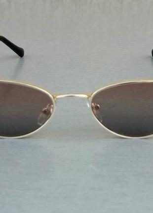 Chanel очки кошечки женские солнцезащитные коричневые в золоте