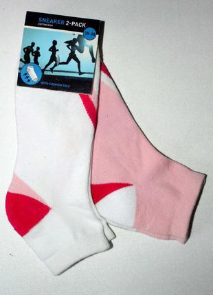 Спортивные беговые носочки с махровой стопой комплект 2 пары. нидерланды. р 35-38