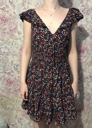 Платье цветочный принт вискоза s m