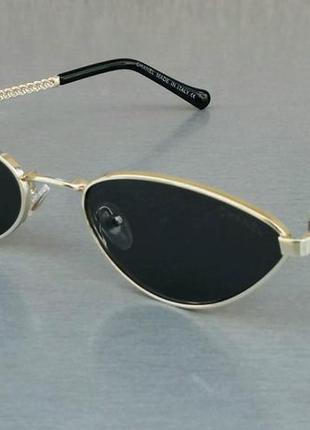 Chanel очки кошечки женские солнцезащитные узкие модные черные