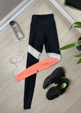 Nike dri fit найк женские лосины леггинсы тайтсы спортивные тренировочные чёрные