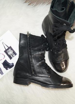 (37,5р./24,5см) office! кожа! комфортные стильные ботинки, сапоги, полусапожки