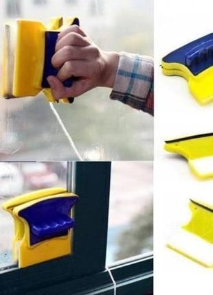 Магнитная щётка для двустороннего мытья окон