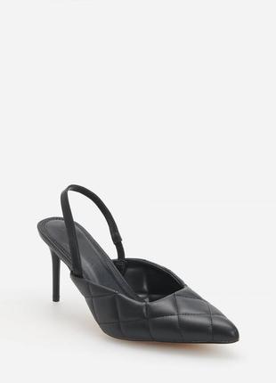 Туфли с открытой пяткой на шпильке