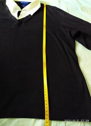 Полувер с имитацией белой рубашки4 фото