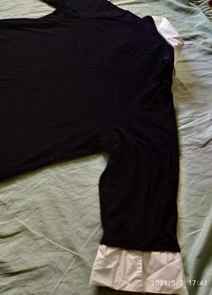 Полувер с имитацией белой рубашки8 фото