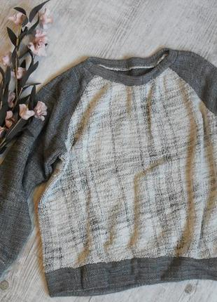 Джемпер,свитшот,кофта,пуловер очень мягкий и приятный-бежевый,серый-s-m