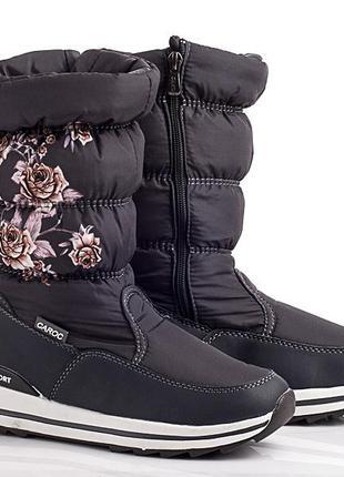 Зимние сапоги - розы