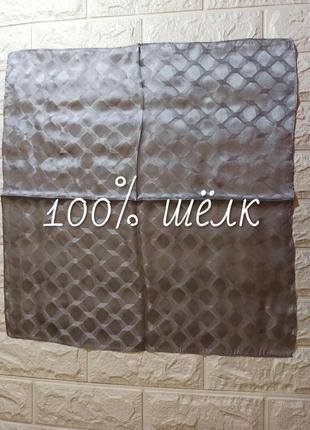🎀 платок принт соты лапка 100% шёлк