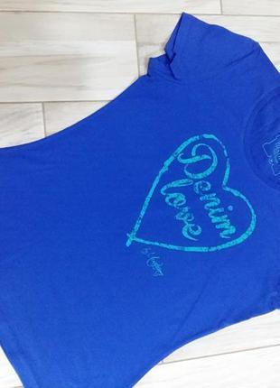 Стильная хлопкрвая футболка mustang 46-48 размер