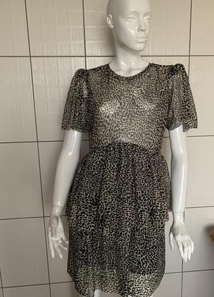 Платье zara, леопардовый принт