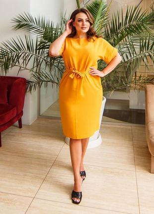 Платье горчица женское2 фото