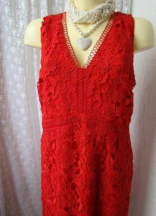 Платье вечернее нарядное коктейльное кружевное батал per una premium р.54 7813 23пв